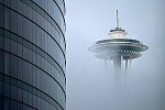 Space Needle Shrouded in Fog