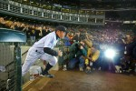 I have two favorite Ichiro pictures, so you get to see them both, here he runs onto the field as he is introduced on opening day of the 2006 season. (Scott Eklund/Seattle Post-Intelligencer)