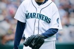 2010 Nominee Seattle Mariners pitcher Felix Hernandez reacts after the final out in the inning against the Boston Red Sox at Safeco Field. (Dan DeLong/Seattle Post-Intelligencer)