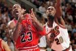 1997 SSY winner Gary Payton swipes the ball from MJ during the 1996 season that saw Jordan's bulls top the Sonics in the NBA Finals. (Scott Eklund/Seattle Post-Intelligencer)