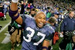 Seems like a while ago as 2005 Sports Star of the Year Running back Shaun Alexander ran onto the field after time expired at the NFC Championship game won by the Seattle Seahawks over the Carolina Panthers at Qwest Field. (Scott Eklund/Seattle Post-Intelligencer)
