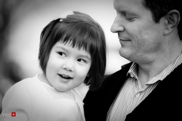 Dad and daughter before baptism, Seattle, WA. (Photography by Rob Sumner / Red Box Pictures)