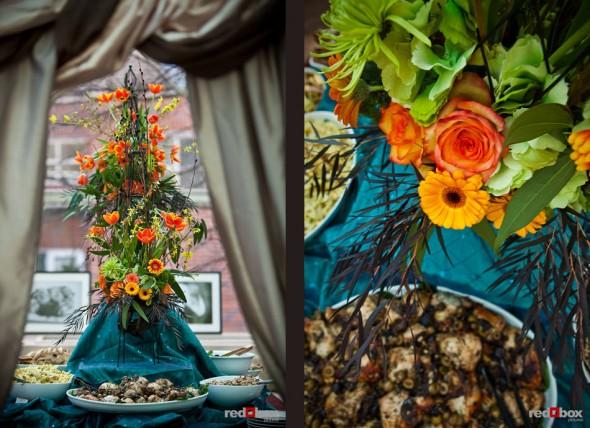 Flower arrangements by Esprit de Fleur (Photos by Red Box Pictures)