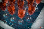 Beverages are served at the open house of Acalia and Foodz catering in Seattle. (Photography by Red Box Pictures)
