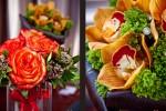 Flower arrangements from Esprit de Fleur (Photo by Red Box Pictures)