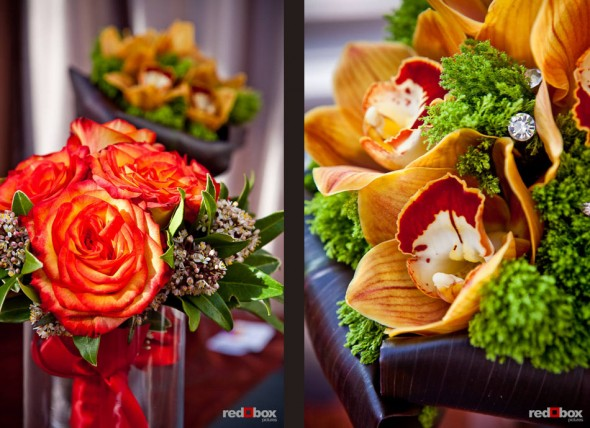 Flower arrangements from Esprit de Fleur (Photo by Red Box Pictures)