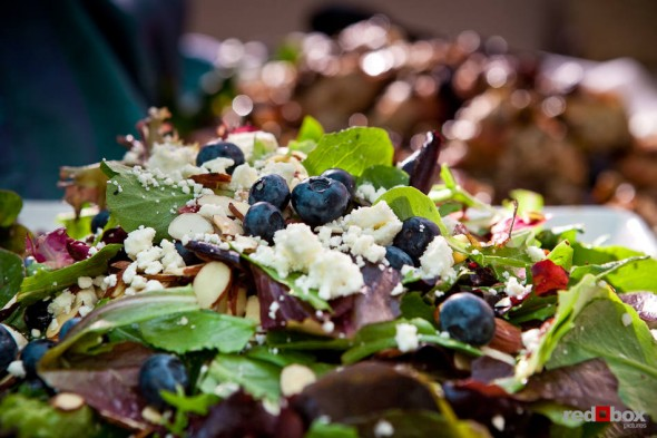 Salad with blue cheese and blueberries. (Photography by Red Box Pictures)