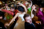 Dancing following the wedding ceremony at the Lake Union Cafe in Seattle. (Photo by Andy Rogers/Red Box Pictures)