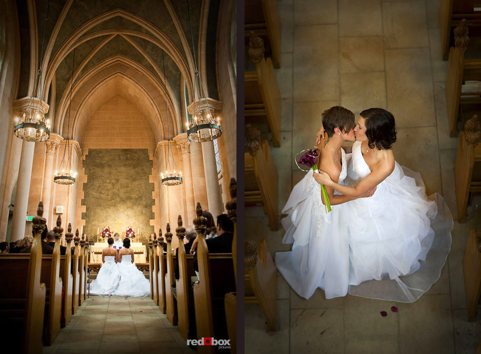 Kirsten And Rebecca Kneel Kiss In Thomsen Chapel At St Mark S Cathedral During Their