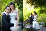 Neel & Johnna before their wedding at St. Louise Catholic Church in Bellevue. (Wedding Photographer Scott Eklund Red Box Pictures)