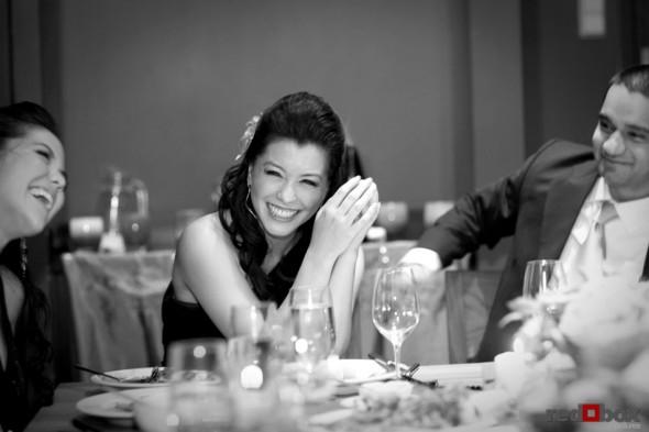 Johanna & her sister enjoy themselves during dinner at Wild Ginger in Bellevue. (Seattle Wedding Photographer Scott Eklund Red Box Pictures)