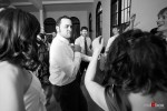 Guests show their moves while dancing at Kate and Dan's wedding at the Georgetown Studios in Seattle. (Photo by Dan DeLong/Red Box Pictures)