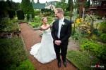 Angi and Mike have their first look on their wedding day at Willows Lodge in Woodinville, WA. (Photo by Dan DeLong/Red Box Pictures)