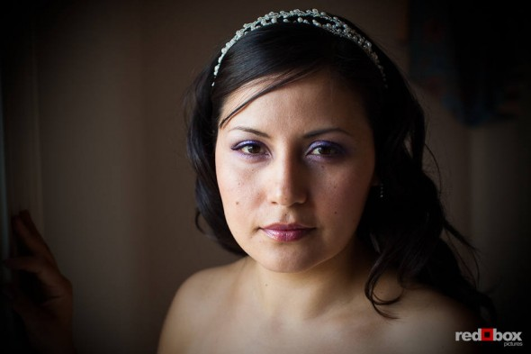 A portrait of bride Anghi before she married Andy at The Canal in Seattle. (Photo by Dan DeLong/Red Box Pictures)