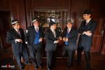 Groom and his groomsmen hangout at the bar before the wedding ceremony at the Golf Club at Newcastle. (Photo by Rob Sumner/Red Box Pictures)