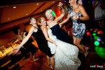 Angi and friends dance during her wedding reception at Willows Lodge in Woodinville, WA. (Photo by Dan DeLong/Red Box Pictures)