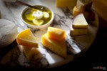 Hand selected perfectly matured aged Italian cheeses. (Food Photography By Scott Eklund/Red Box Pictures)