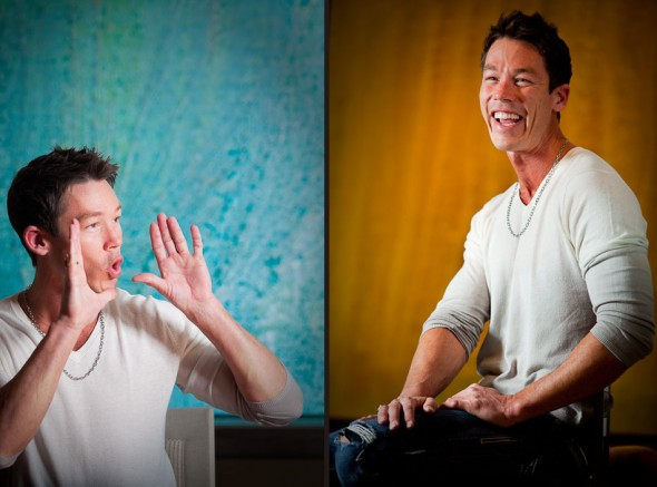 David Bromstad photographed in the Ralph Hays showroom at the Seattle Design Center. Photography by Rob Sumner/Red Box Pictures.