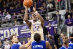 Washington Huskies' forward Justin Holiday shoot against the McNeese State Cowboys during the men's basketball season opener at UW's Hec Edmundson Pavilion. (Photo by Dan DeLong/Red Box Pictures)