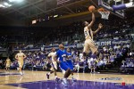 Washington Huskies' guard C.J. Wilcox scores a breakaway layup against the McNeese State Cowboys during the men's basketball season opener at UW's Hec Edmundson Pavilion. (Photo by Dan DeLong/Red Box Pictures)