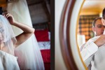 Angie and Jordan get ready in their Edgewater hotel rooms before being married. (Photo by Dan DeLong/Red Box Pictures)