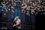 UW Cherry Blossom Engagement Photos | Emily + Mark