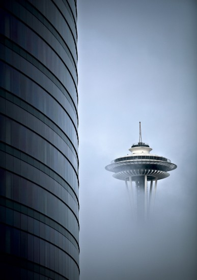 Structures - Space Needle and Enso - (Photography by Rob Sumner / Red Box Pictures
