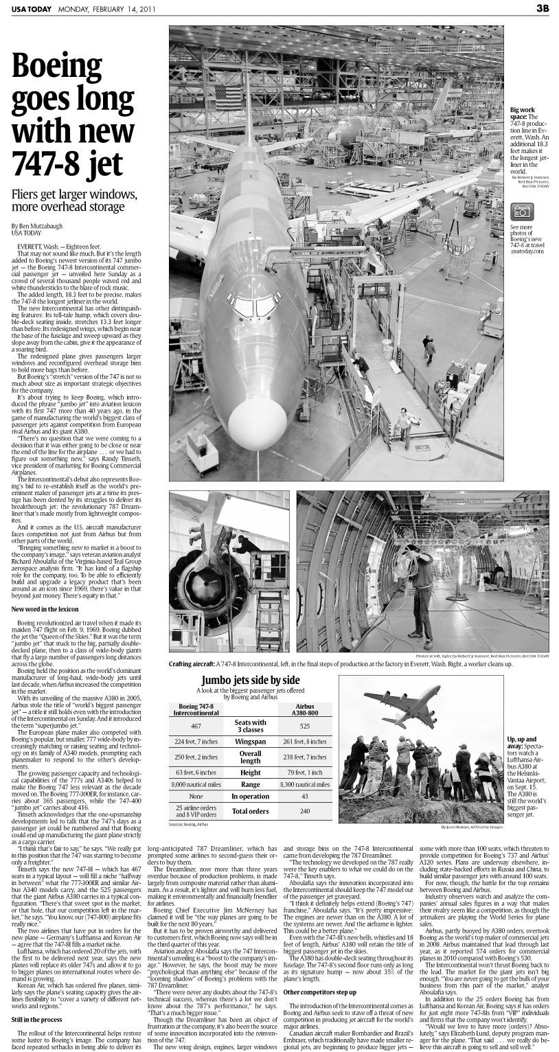 USA Today page featuring photography by Rob Sumner / Red Box Pictures