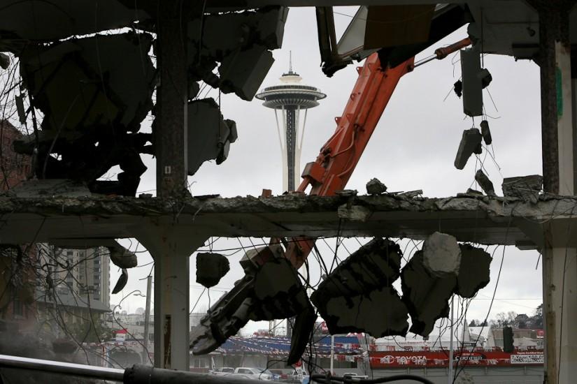 Building Demolition South Lake Union