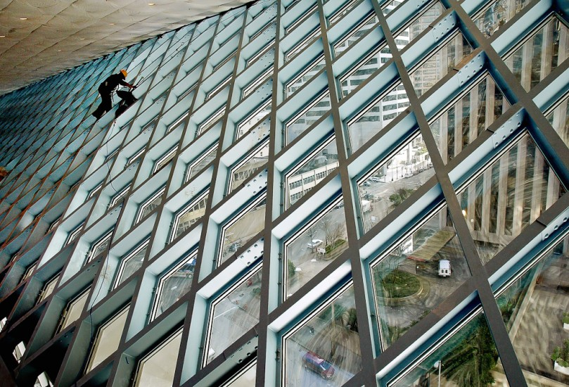 Construction-pictures-Seattle-Library