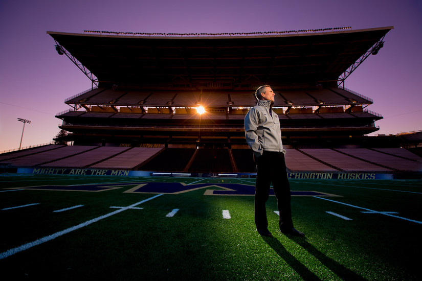 University of Washington head football coach Chris Petersen