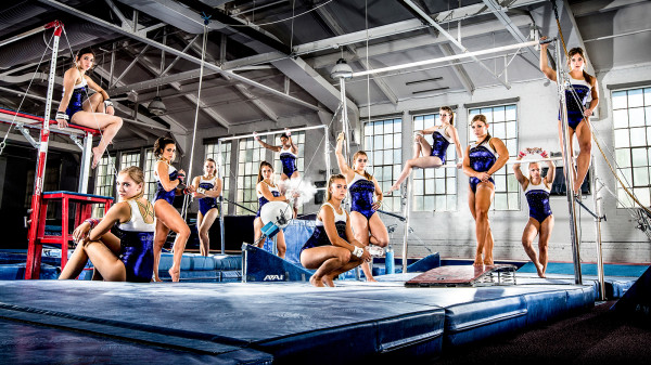 The 2013-14 University of Washington gymnastics team. (Sports Photography by: Scott Eklund/Red Box Pictures)