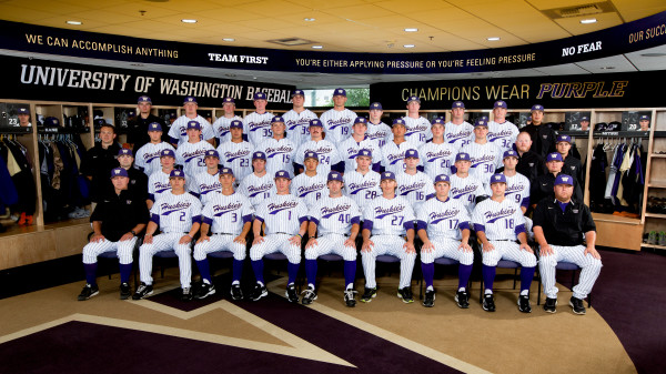 The 2013 University of Washington baseball team photo. (Sports Photography by Scott Eklund /Red Box Pictures)